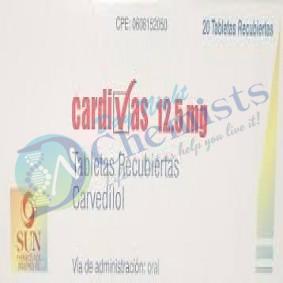 CARDIVAS 12.5 MILLIGRAM