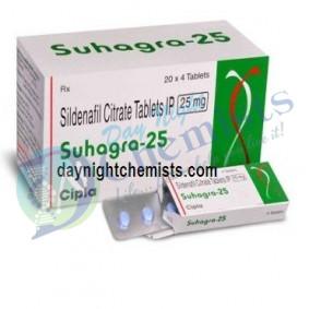 Suhagra 25 MG Tablet (Sildenafil)