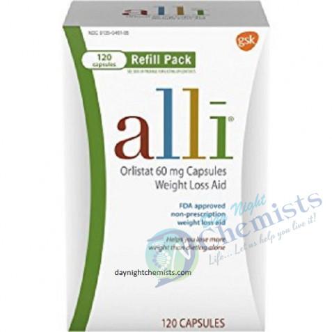 Alli (Orlistat 60 mg) Capsule