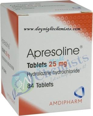 Apresoline 25 Mg Tablet
