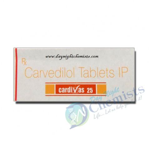 Cardivas 25 MG Tablet