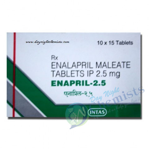 Enalapril Maleate Tablets 2.5 mg