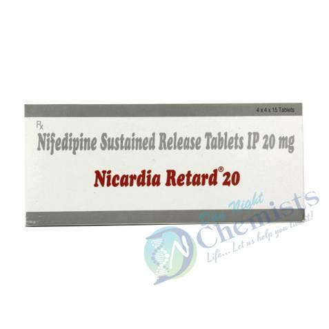 Nicardia Retard 20 Mg