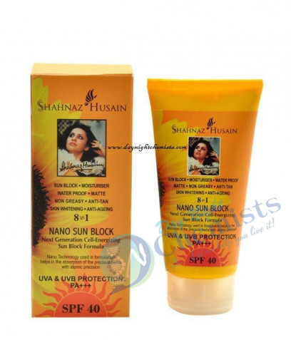 SUN BLOCK MOISTURIESER SATERPROF NON OILY ANTIAGING 8 IN 1 NANO SUN BLOCK SPF40 PA+++ 80