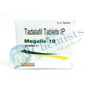 Megalis 10 MG Tablet (Tadalafil)